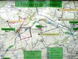 La voie verte. Parcours Les Mées-Vezot, environ 13 km.