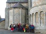 Le groupe devant l'église Saint laurent